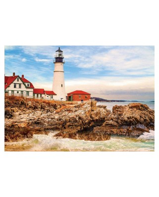 Puzzle Educa - Lighthouse On The Rock , 1500 piese, include lipici (17978)