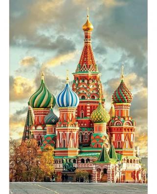 Puzzle Educa - Catedrala San Basilio, Moscova, 1.000 piese, include lipici (17998)