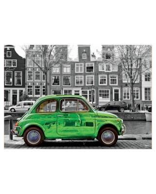 Puzzle Educa - Car in Amsterdam, 1.000 piese alb-negru, include lipici (18000)
