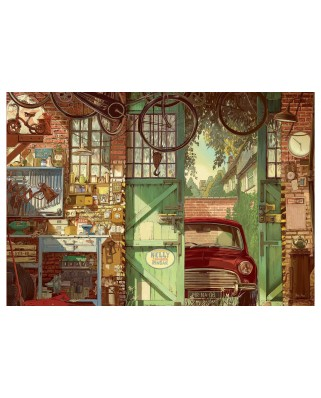 Puzzle Educa - Arly Jones: Old Garage, 1500 piese, include lipici (18005)