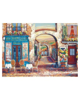 Puzzle Educa - Le Petit Cafe, 4.000 piese, include lipici (18014)