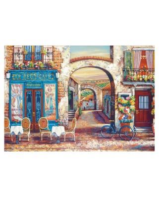 Puzzle Educa - Le Petit Cafe, 4.000 piese, include lipici (18014)