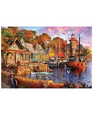 Puzzle Educa - Sunset In The Port, 5.000 piese, include lipici (18015)