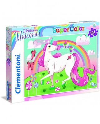 Puzzle Clementoni - I Believe in Unicorns, 104 piese (27109)