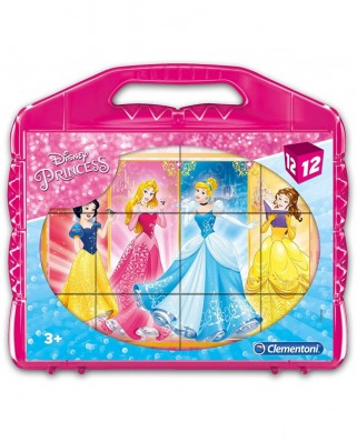 Puzzle cuburi Clementoni - Disney Princess, 12 piese (41181)