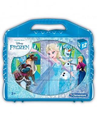Puzzle cuburi Clementoni - Frozen, 12 piese (41186)