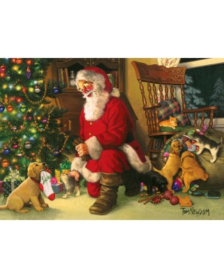 Puzzle Cobble Hill - Santa's Lucky Stocking, 350 piese XXL (Cobble-Hill-54611)
