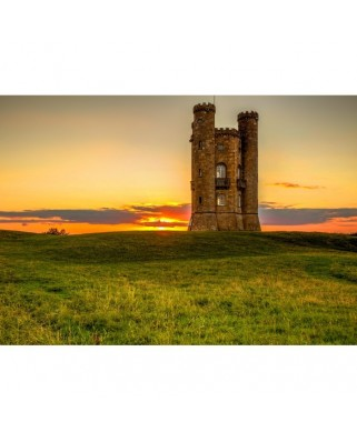 Puzzle Grafika - Broadway Tower in the Cotswolds, 1.000 piese (02928)