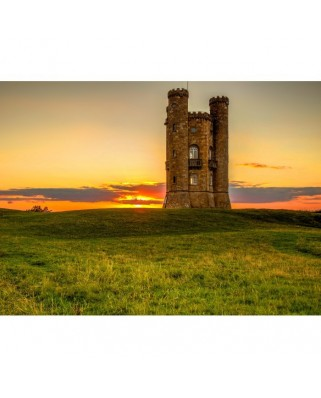 Puzzle Grafika - Broadway Tower in the Cotswolds, 300 piese (02929)