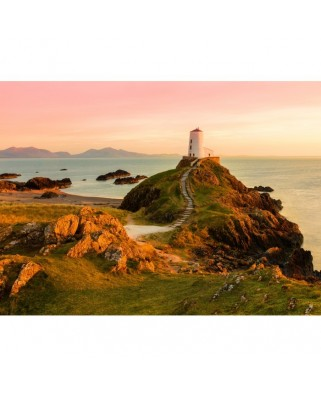 Puzzle Grafika - Old Lighthouse at Llanddwyn Island, Anglesey, 300 piese (02937)