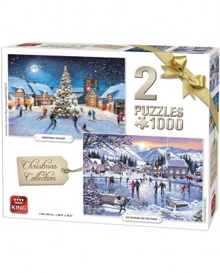 Puzzle King - Christmas Collection, 2x1.000 piese (05217)