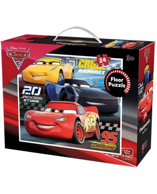 Puzzle de podea King - Cars 3, 24 piese (05276)