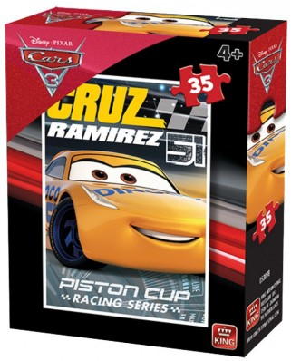 Puzzle King - Cars 3, 35 piese (05309-B)