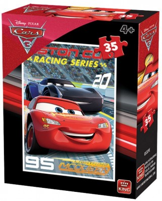 Puzzle King - Cars 3, 35 piese (05309-E)