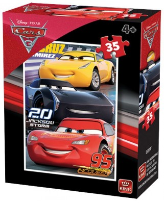 Puzzle King - Cars 3, 35 piese (05309-F)