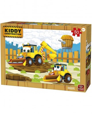 Puzzle King - Kiddy Construction, 50 piese (05456)
