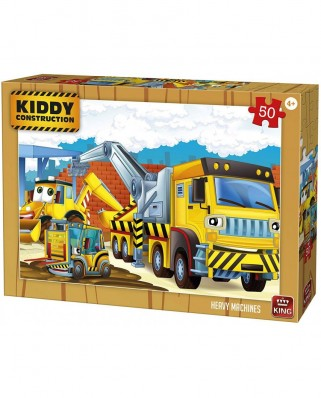 Puzzle King - Kiddy Construction, 50 piese (05458)
