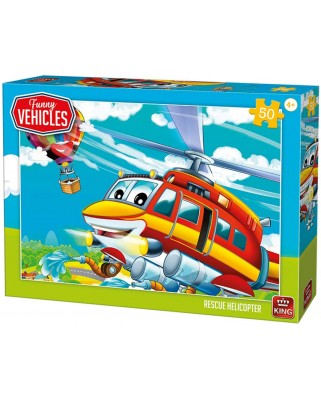 Puzzle King - Rescue Helicopter, 50 piese (05519)