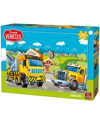 Puzzle King - Cargo Cars, 50 piese (05522)