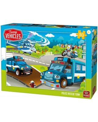 Puzzle King - Police Rescue Team, 50 piese (05523)