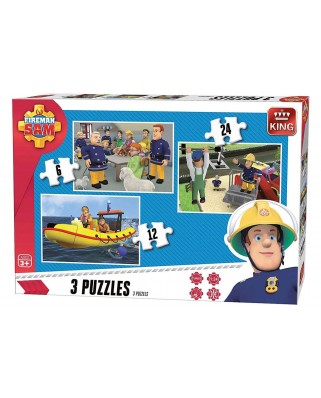 Puzzle King - Fireman Sam, 3x24 piese (05587)