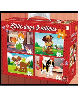Puzzle King - Little Dogs & Kittens, 12/16/20/24 piese (05641)
