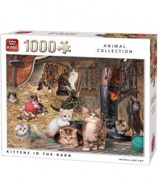 Puzzle King - Kittens in the Barn, 1.000 piese (05700)