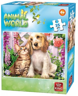 Puzzle King - Animal World, 35 piese (05774-B)