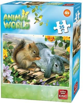 Puzzle King - Animal World, 35 piese (05774-C)