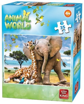 Puzzle King - Animal World, 35 piese (05774-D)