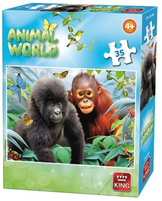 Puzzle King - Animal World, 35 piese (05774-E)
