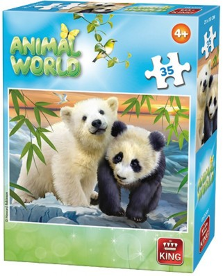 Puzzle King - Animal World, 35 piese (05774-F)