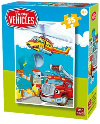 Puzzle King - Funny Vehicles, 35 piese (05775-F)