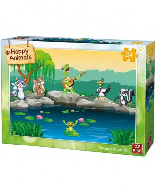 Puzzle King - Singing Animals, 24 piese (05782)