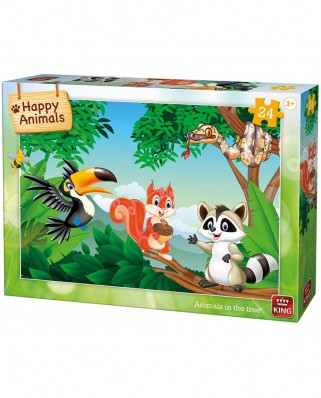 Puzzle King - Animals in the Tree, 24 piese (05783)