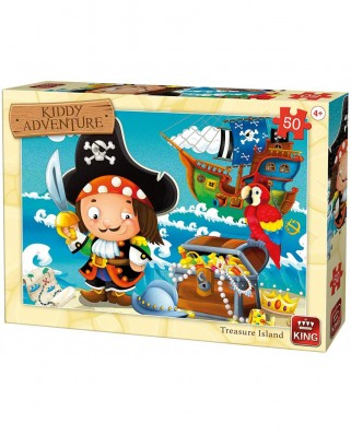 Puzzle King - Treasure Island, 50 piese (05787)