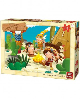 Puzzle King - Cow-Boys & Indians, 24 piese (05790)