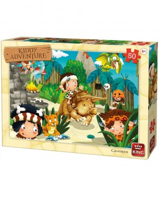 Puzzle King - Kiddy Adventure - Cavemen, 50 piese (05792)