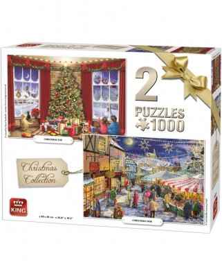 Puzzle King - Christmas Collection, 2x1.000 piese (05811)