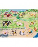 Puzzle din lemn Ravensburger - My First Wooden Puzzles, 10 piese (03689)