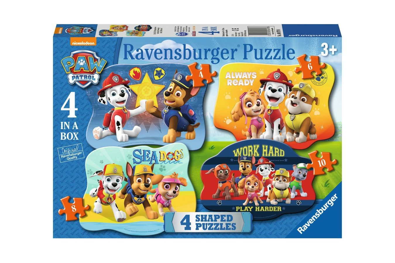 Puzzle Ravensburger - Paw Patrol, 4/6/8/10 piese (06979)