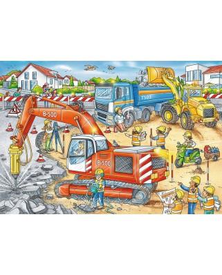 Puzzle Ravensburger - Construction Site, 2x12 piese (07630)