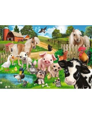 Puzzle Ravensburger - Farm Animals, 2x24 piese (07830)