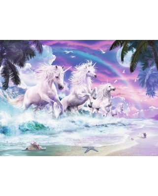 Puzzle Ravensburger - Unicorns on the Beach, 150 piese XXL (10057)