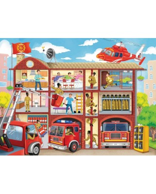 Puzzle Ravensburger - Fire Station, 100 piese XXL (10404)
