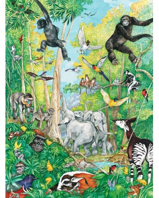 Puzzle de colorat Ravensburger - The Animals, 80 piese (10734)