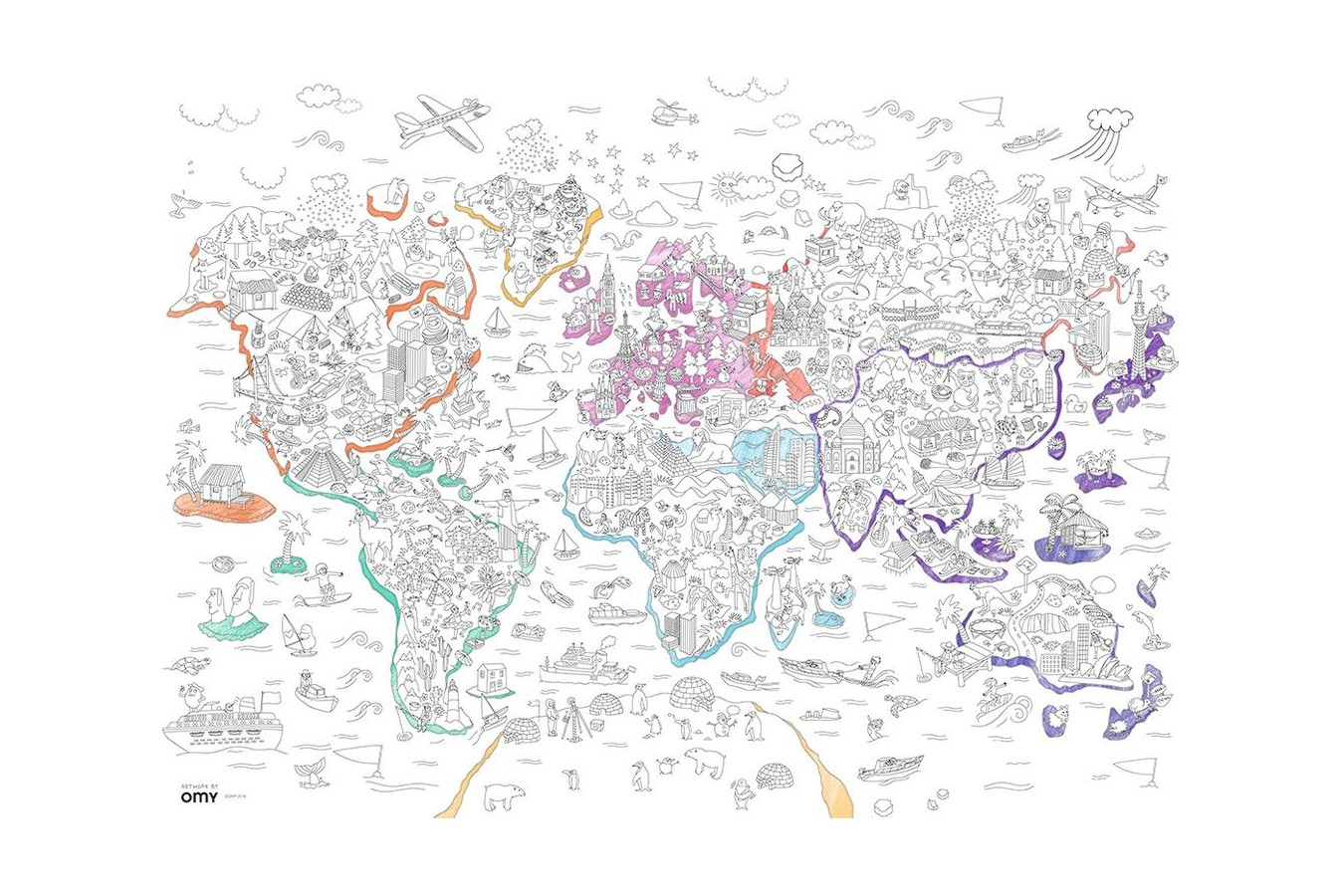 Puzzle de colorat Ravensburger - Atlas, 80 piese (10735)