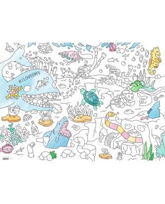 Puzzle de colorat Ravensburger - Underwater World, 80 piese (10752)