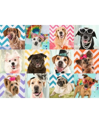 Puzzle Ravensburger - Funny dogs, 100 piese XXL (10870)