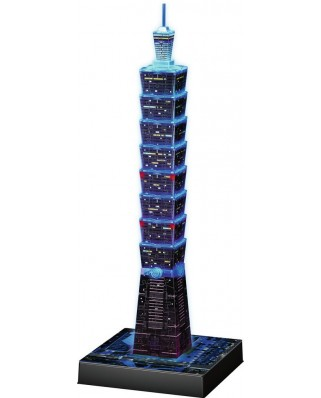 Puzzle 3D Ravensburger - Night Edition - Taipei, 216 piese (11149)
